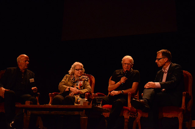 Roland Siegwart, Vizepräsident Forschung ETH; Ilse Mayer, erste Keystone Fotografin der Schweiz; Toni Vescoli, Swiss Beatle und Legende der Mundartmusik